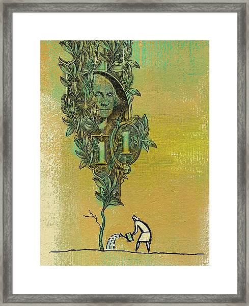 Growing Your Money Framed Print
