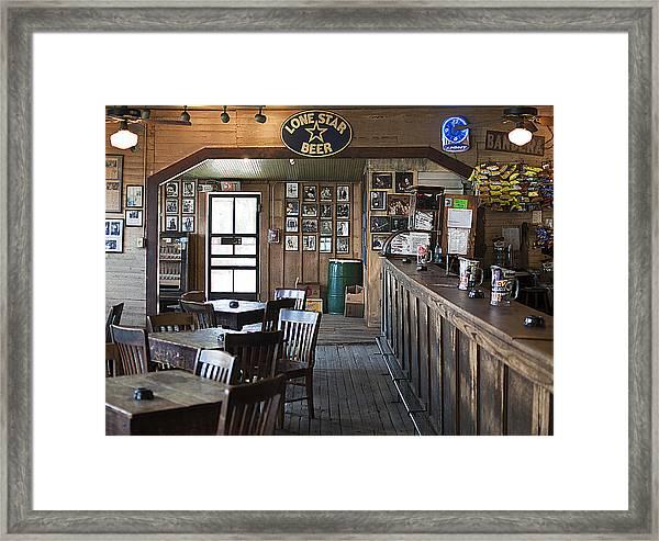 Gruene Hall Bar Framed Print