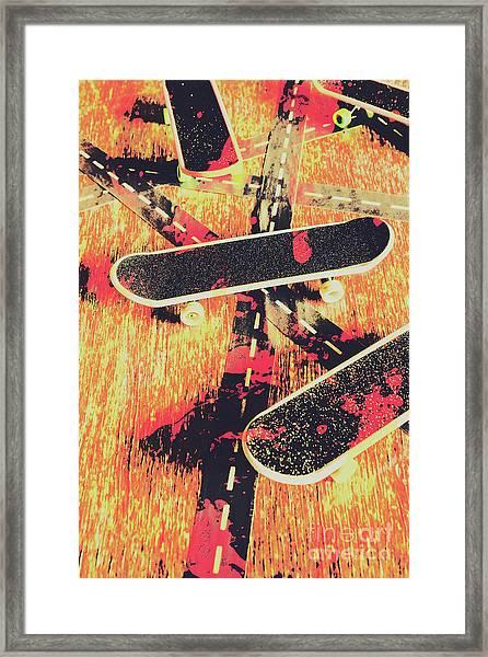 Grunge Skate Art Framed Print