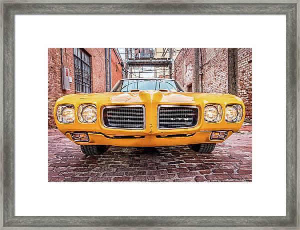 Gto - Pontiac Muscle Framed Print