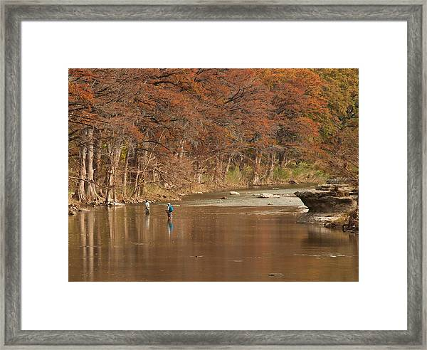 Guadalupe River Fly Fishing Framed Print