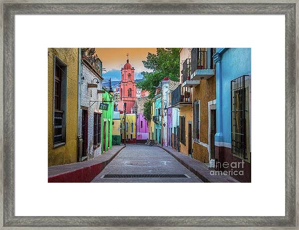 Guanajuato Backstreet Framed Print