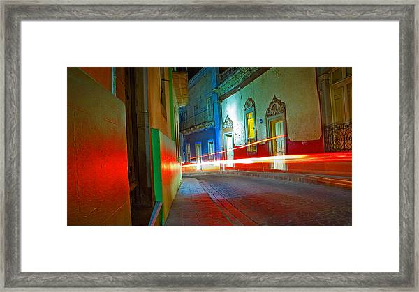 Framed Print featuring the photograph Guanajuato Night by Skip Hunt
