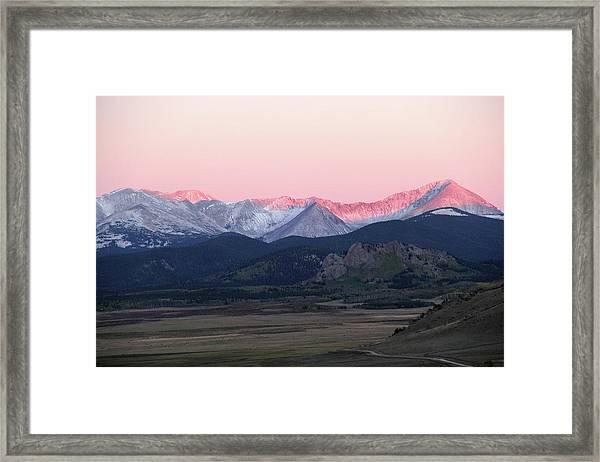 Guanella Sunrise Framed Print