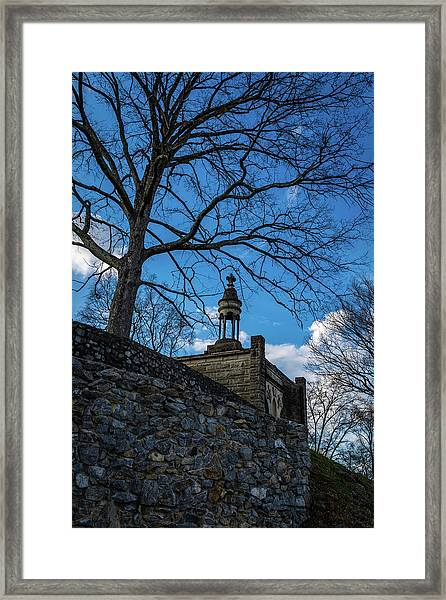 Guarded Summit Memorial Framed Print