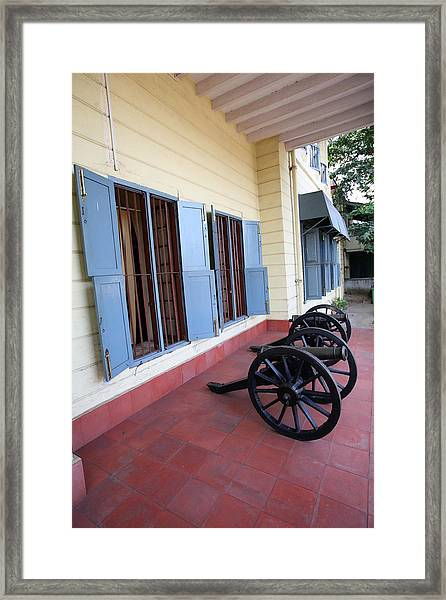 Guarding The Fort Framed Print