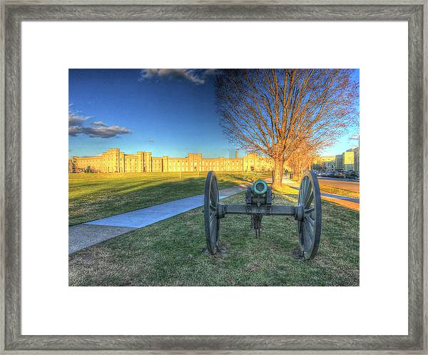 Guarding The Gate Framed Print