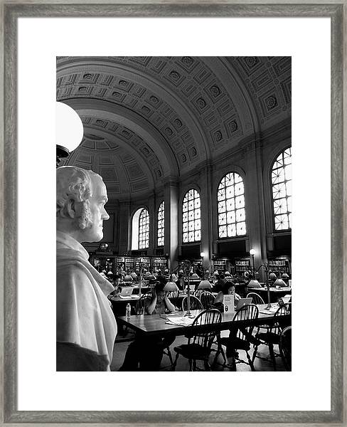 Guarding The Knowledge Framed Print