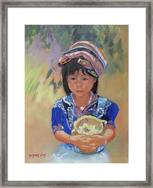 Guatemalan Girl Framed Print