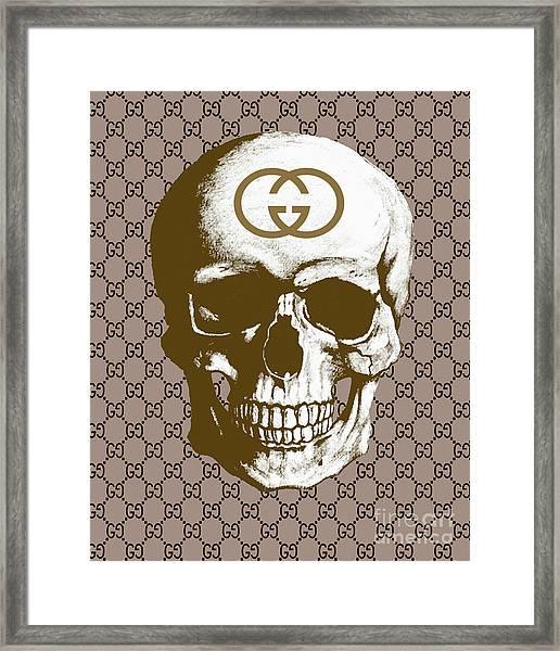 Gucci Skull Print Framed Print