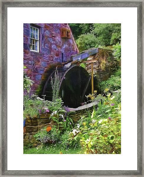 Guernsey Moulin Or Waterwheel Framed Print