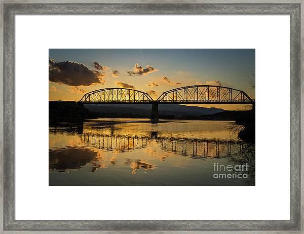 Guffey Bridge At Sunset Idaho Journey Landscape Photography By Kaylyn Franks Framed Print