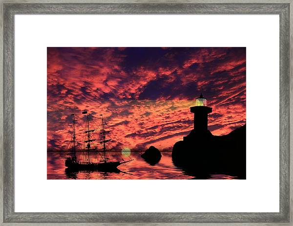 Guiding The Way Framed Print