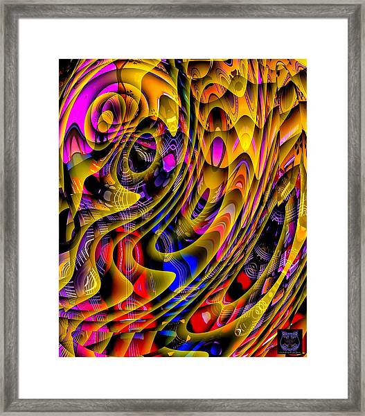 Framed Print featuring the digital art Guitar Abstract by Visual Artist Frank Bonilla