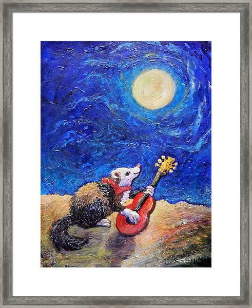 Guitar Ferret Framed Print
