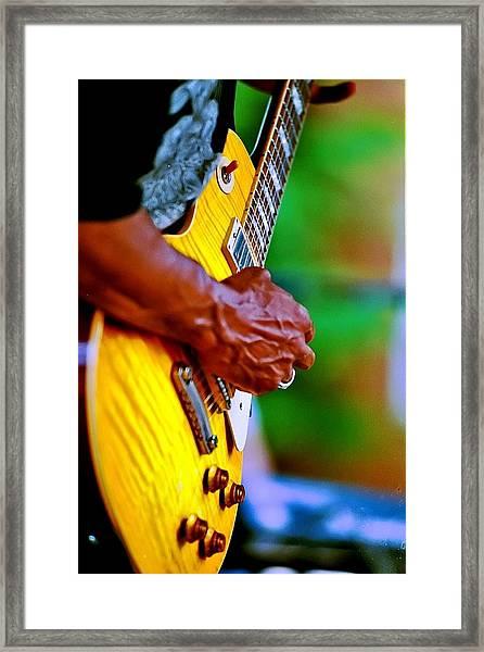 Guitar Hand Framed Print