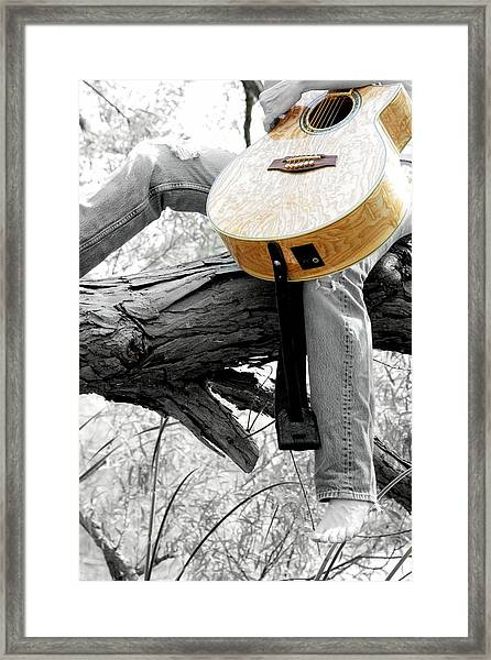Guitar Has A Soul Framed Print