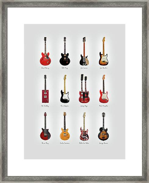 Guitar Icons No1 Framed Print