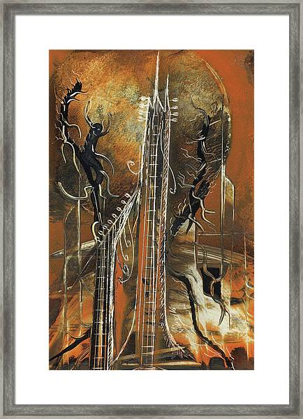 Guitar World Framed Print