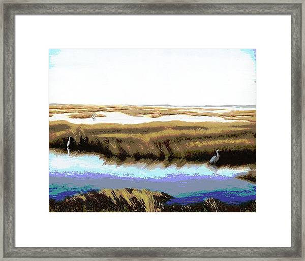 Framed Print featuring the painting Gulf Coast Florida Marshes I by G Linsenmayer