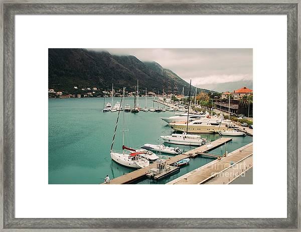 Gulf Of Kotor Framed Print