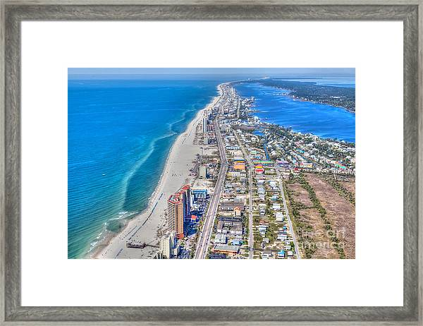 Gulf Shores Beach Looking W Framed Print