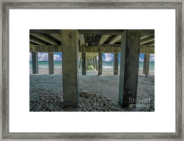 Gulf Shores Park And Pier Al 1649 Framed Print