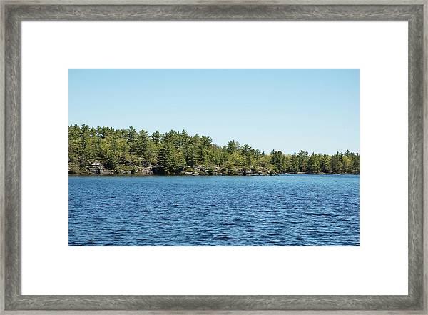 Gull Lake Framed Print