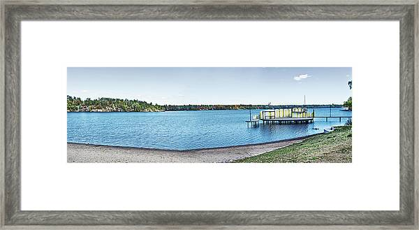 Gull Lake Panorama Framed Print