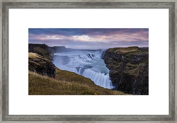 Gullfoss, Sunrise Framed Print