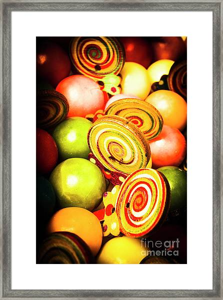 Gumdrops And Candy Pops  Framed Print
