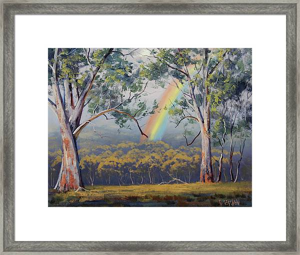 Gums With Rainbow Framed Print