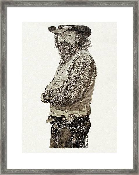 Gun Belt Framed Print by Theresa Higby
