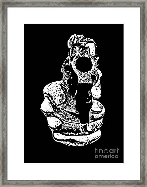 Gunman T-shirt Framed Print