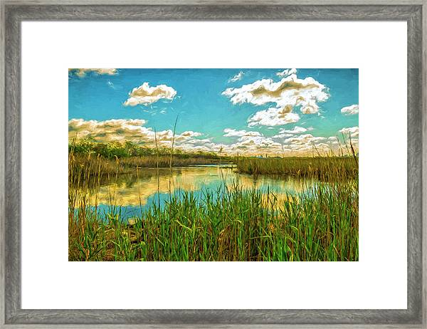Gunnel Oval By Paint Framed Print
