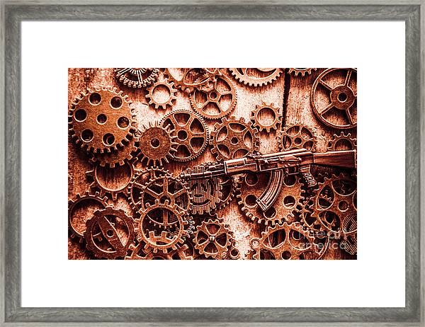Guns Of Machine Mechanics Framed Print