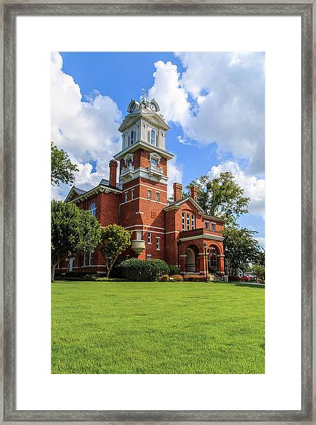 Gwinnett County Historic Courthouse Framed Print