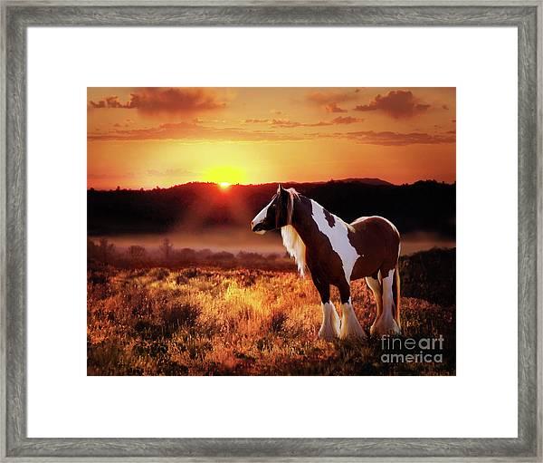 Framed Print featuring the digital art Gypsy Sunset by Melinda Hughes-Berland