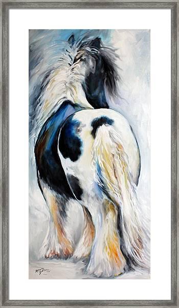 Gypsy Vanner Modern Abstract Framed Print
