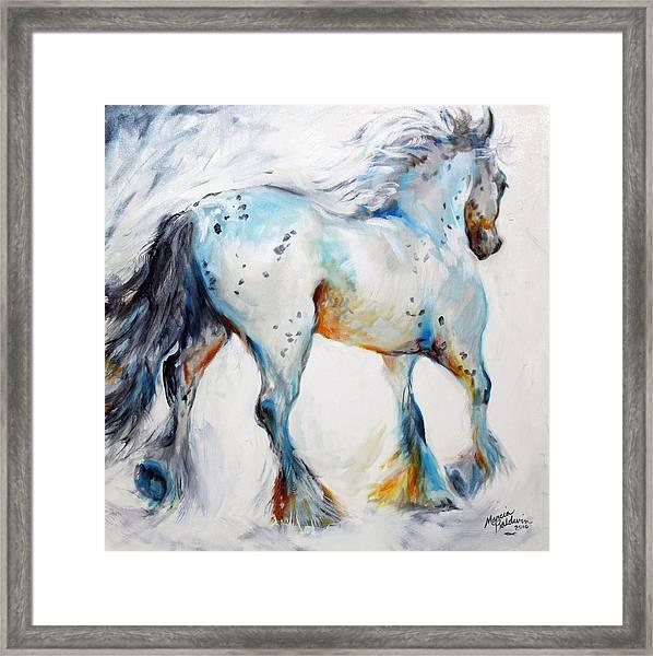 Gypsy Vanner Motion Paint Sketch Framed Print