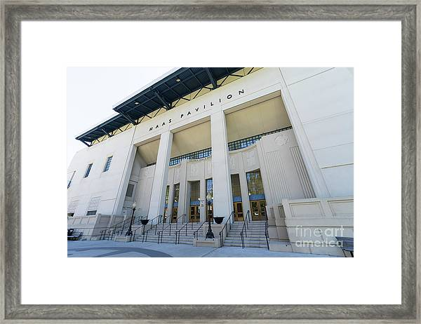 Haas Pavilion At University Of California Berkeley Dsc6302 Framed Print