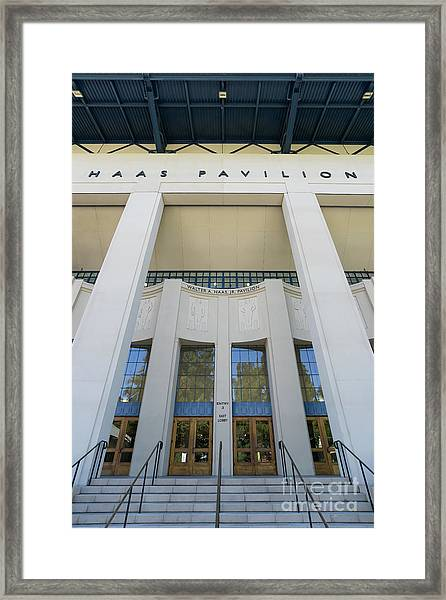 Haas Pavilion At University Of California Berkeley Dsc6304 Framed Print
