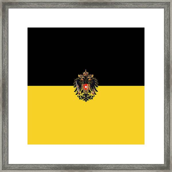 Habsburg Flag With Imperial Coat Of Arms 3 Framed Print