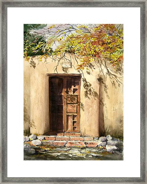 Hacienda Gate Framed Print