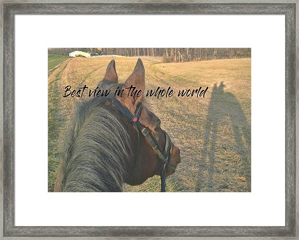 Hack Date Quote Framed Print