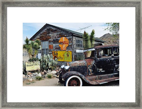 Hackberry Route 66 Auto Framed Print