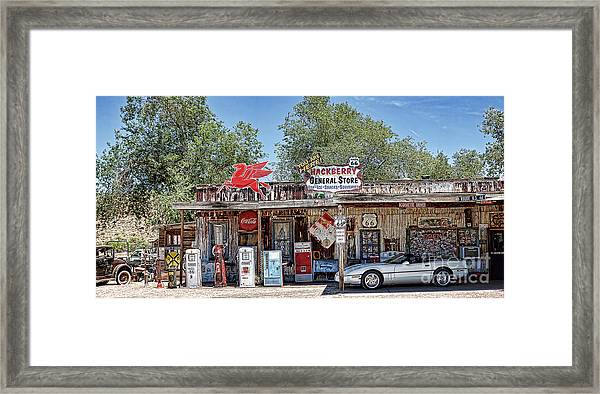 Hackberry General Store On Route 66, Arizona Framed Print