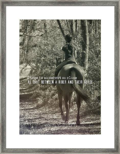 Hacking Quote Framed Print