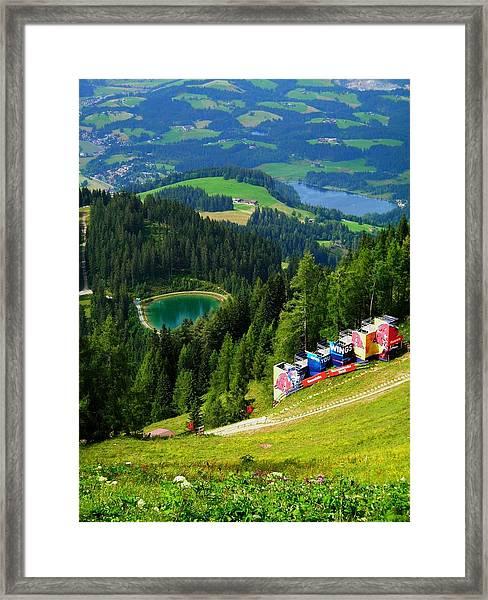 Hahnenkamm - Kitzbuehel Framed Print