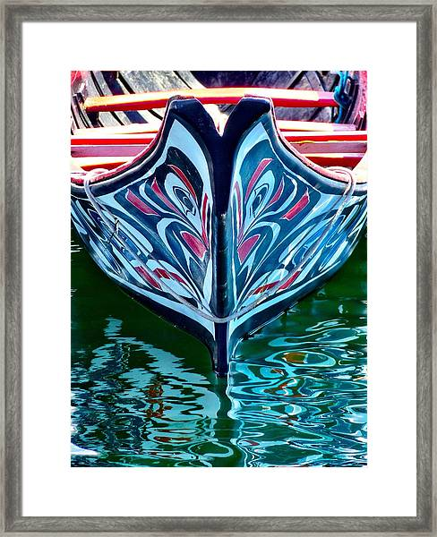 Haida Canoe Framed Print